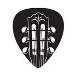 Icono con el cuello y la selección de la guitarra Fotos de archivo