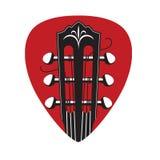 Icono con el cuello y la selección de la guitarra Fotografía de archivo