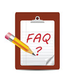 Icono con frecuencia pedido de las preguntas Imagen de archivo libre de regalías