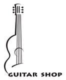 Icono con la guitarra Fotografía de archivo libre de regalías