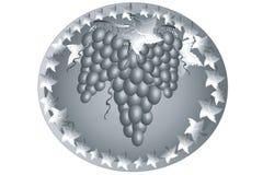 Icono con la uva. Fotografía de archivo libre de regalías