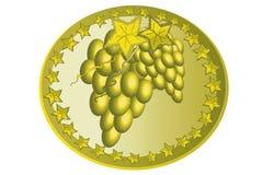 Icono con la uva. Foto de archivo libre de regalías