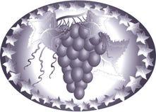 Icono con la uva Imagenes de archivo