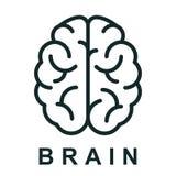 Icono con los enlaces de los nervios - vector del cerebro humano libre illustration