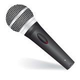 Icono con un micrófono Imagen de archivo libre de regalías