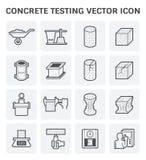Icono concreto de la prueba stock de ilustración