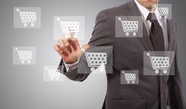 Touh del icono del comercio electrónico imagen de archivo libre de regalías