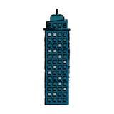 icono constructivo de la fachada de las propiedades inmobiliarias ilustración del vector