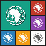 Icono continente africano Fotos de archivo libres de regalías