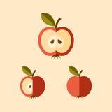 Icono cortado de la manzana Imagenes de archivo