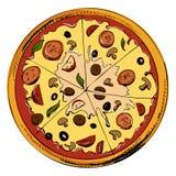Icono cortado de la pizza Imagen de archivo libre de regalías