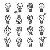 Icono creativo bulb3 stock de ilustración