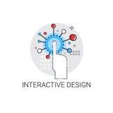 Icono creativo de la tecnología del diseño interactivo libre illustration