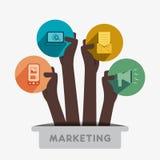 Icono creativo del márketing Imagenes de archivo