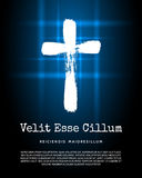 Icono cruzado cristiano del vector Imagen de archivo