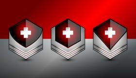 Icono cruzado del rojo del botón Imagen de archivo