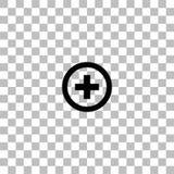 Icono cruzado m?dico completamente stock de ilustración
