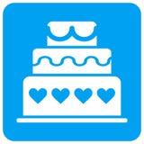 Icono cuadrado redondeado torta de la trama del matrimonio ilustración del vector