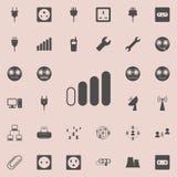 icono débil de la escala de la señal Sistema detallado de iconos minimalistic Muestra superior del diseño gráfico de la calidad U ilustración del vector