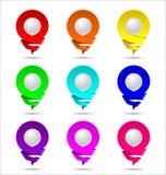 Icono 3D de la ubicación Colores populares Imagen de archivo libre de regalías
