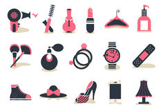 Icono de Accessory&cosmetic Stock de ilustración