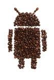 Icono de Android en el fondo blanco imagen de archivo libre de regalías