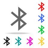 Icono de Bluetooth Diseño de la muestra Elementos en los iconos coloreados multi para los apps móviles del concepto y del web Los libre illustration