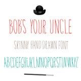 Icono de Bobs Your Uncle Font Symbol Foto de archivo libre de regalías