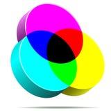 Icono de CMYK Fotos de archivo