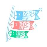 Icono de cometas bajo la forma de pescados libre illustration