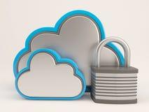 icono de 3D Cloud Drive ilustración del vector