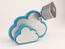 icono de 3D Cloud Drive Fotos de archivo libres de regalías