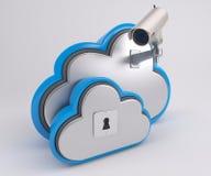 icono de 3D Cloud Drive Fotografía de archivo libre de regalías