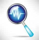 Icono de diagnóstico stock de ilustración