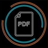 Icono de documento del pdf de la transferencia directa - símbolo del formato de archivo del vector libre illustration