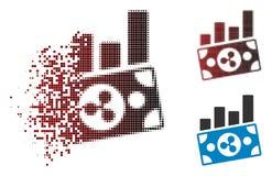 Icono de Dot Halftone Ripple Banknote Charts de la chispa ilustración del vector