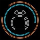 Icono de Dumbell, barbell del gimnasio del vector, ejemplo de elevación pesado, levantamiento de pesas, icono de los deportes ilustración del vector