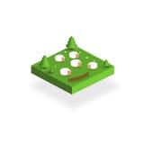 Icono de Eco con las ovejas Imagen de archivo