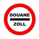 Icono de encargo francés y alemán Fotos de archivo libres de regalías
