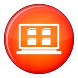 Icono de escritorio, estilo plano Fotografía de archivo libre de regalías