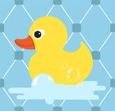 Icono de goma del pato Pato amarillo Ilustración del vector Foto de archivo