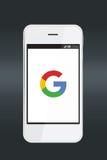 Icono de Google en una pantalla del smartphone Fotografía de archivo libre de regalías