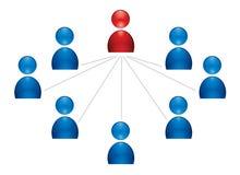 Icono de grupo humano Imagen de archivo libre de regalías