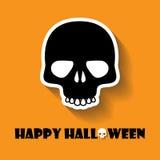 icono de Halloween del cráneo Fotografía de archivo