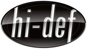 Icono de HI-DEF Fotos de archivo