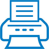 Icono de impresora del vector Imagenes de archivo