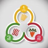 Icono de Infographic Nutrición y alimento biológico Gráfico de vector libre illustration