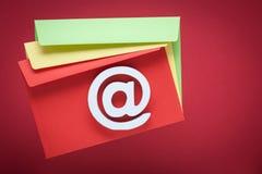 Icono de Internet del símbolo del correo electrónico Foto de archivo libre de regalías