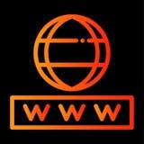 Icono de Internet y de la seguridad stock de ilustración