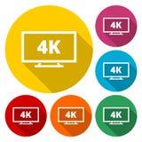 icono de 4k TV libre illustration
